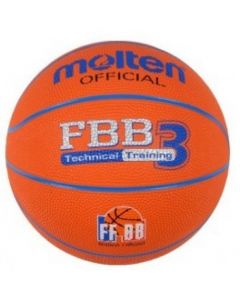 BALLON BASKET MOLTEN BASKET SCOLAIRE FBB T3 ORANGE/BLEU