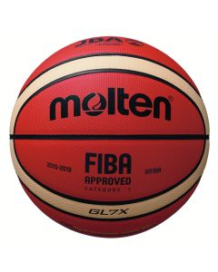 BALLON BASKET MOLTEN COMPET GLX T7 ORANGE/IVOIRE
