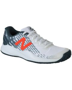 CHAUSSURES DE TENNIS NEW BALANCE JUNIOR KC996WF3 BLANC/BLEU PETROLE