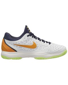 CHAUSSURES DE TENNIS JUNIOR NIKE AIR ZOOM CAGE 3 HC 918193 180 BLANC/ORANGE