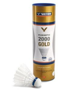 VOLANTS DE BADMINTON PLASTIQUE VICTOR 2000 BLANC VITESSE MEDIUM