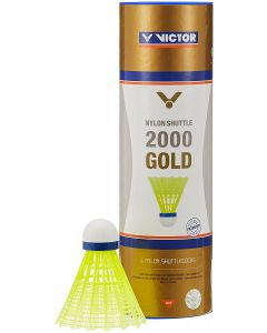 VOLANTS DE BADMINTON PLASTIQUE VICTOR 2000 JAUNE VITESSE MEDIUM
