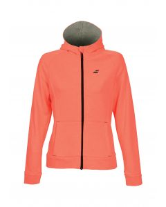 VESTE A CAPUCHE BABOLAT FILLE CORE HOOD SWEAT 3GS18041 5006 ORANGE FLUO