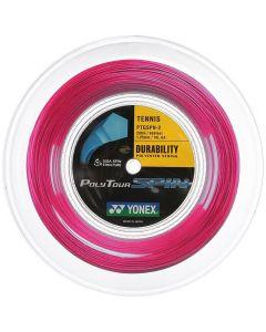 CORDAGE DE TENNIS YONEX POLYTOUR SPIN ROSE BOBINE 200M