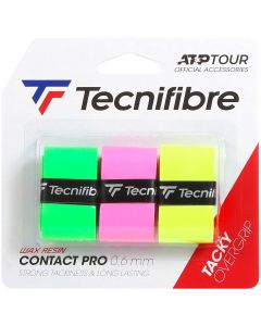 SURGRIP TECNIFIBRE PRO CONTACT x3 ASSORTED FLUO