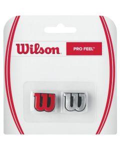 ANTIVIBRATEUR WILSON PRO FEEL ARGENT-NOIR/ROUGE-NOIR WRZ537600