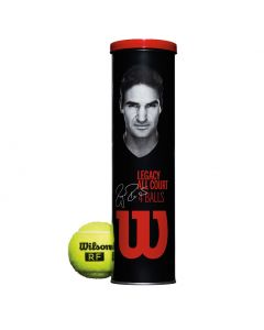 BALLES DE TENNIS WILSON RF LEGACY ALL COURT TENNIS BALLS WRT11990M