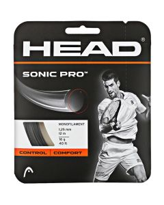 CORDAGE DE TENNIS HEAD SONIC PRO GARNITURE ISSUE DE BOBINE 12M NOIR
