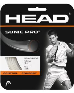 CORDAGE DE TENNIS HEAD SONIC PRO GARNITURE ISSUE DE BOBINE 12M BLANC