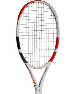 RAQUETTE DE TENNIS BABOLAT PURE STRIKE JUNIOR 25 2019 CORDEE 140400 BLANC/ROUGE -