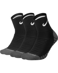 CHAUSSETTES NIKE  Dry Cushion Quarter Training Sock (3 Paires) SX5549 010 NOIR