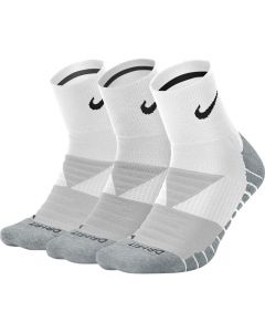 CHAUSSETTES NIKE  Dry Cushion Quarter Training Sock (3 Paires) SX5549 100 BLANC