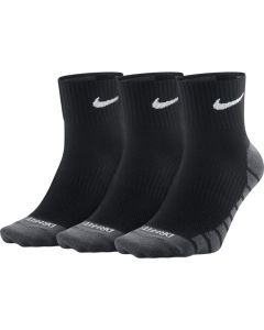 CHAUSSETTES NIKE DRY LIGHTWEIGHT QUARTER TRAINING LOT DE 3 PAIRE SX6941 010 NOIR