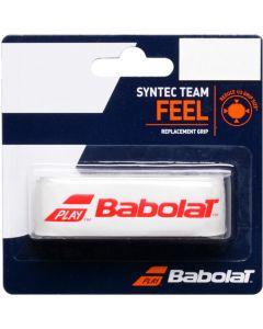 GRIP BABOLAT SYNTEC TEAM 670065 149 BLANC ROUGE