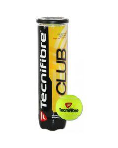 BALLES DE TENNIS TECNIFIBRE CLUB TUBE DE 4 BALLES