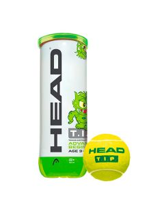 Tube de 3 balles vertes head TIP green
