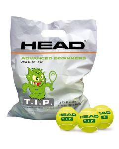 BALLE HEAD TIP GREEN RECHARGE  DE 72 BALLES