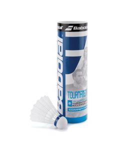 VOLANTS DE BADMINTON PLASTIQUE BABOLAT TOURNAMENT BLANC VITESSE MEDIUM