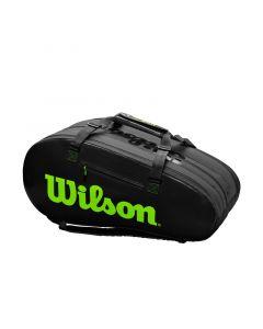 SAC TENNIS WILSON SUPER TOUR 3 COMP NOIR/VERT WR8004101001