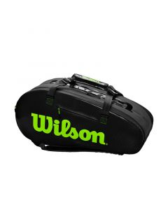 SAC TENNIS WILSON SUPER TOUR 2 COMP LARGE NOIR/VERT WR8004201001