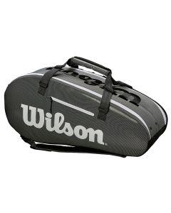 SAC DE TENNIS WILSON SUPER TOUR INFRARED 2 COMP LARGE WRZ843909 GRIS