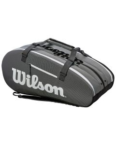 SAC DE TENNIS WILSON SUPER TOUR INFRARED 3 COMP WRZ843915 GRIS