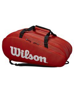 SAC DE TENNIS WILSON TOUR 3 COMP  WRZ840815 ROUGE