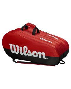 SAC DE TENNIS WILSON TEAM 3 COMP WRZ857915 ROUGE/NOIR