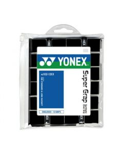 SURGRIPS YONEX SUPERGRAP AC102-12EX LOT DE 12 NOIR