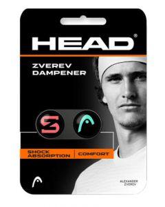 ANTIVIBRATEUR HEAD ZVEREV DAMPENER x2 285120 TURQUOISE ROUGE