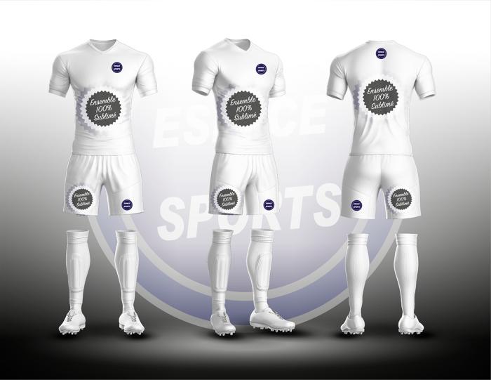 ENSEMBLE SUBLIME ESPACE SPORTS GAMME BRONZE FOOTBALL HOMME MAILLOT + SHORT
