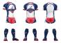 Ensemble de Rugby Espace Sports competition (Short+Maillot) Tricolore