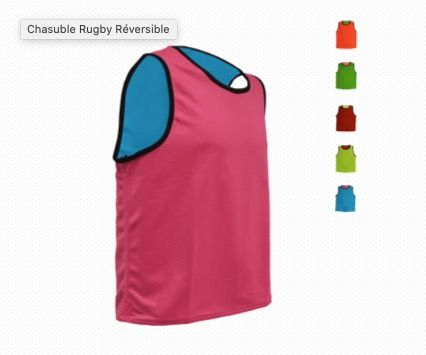 CHASUBLE RUGBY REVERSIBLE  063310