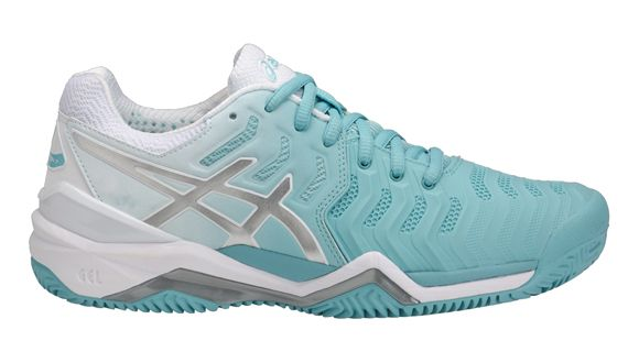CHAUSSURES FEMME ASICS GEL RESOLUTION 7 CLAY E752Y 1493 BLEU