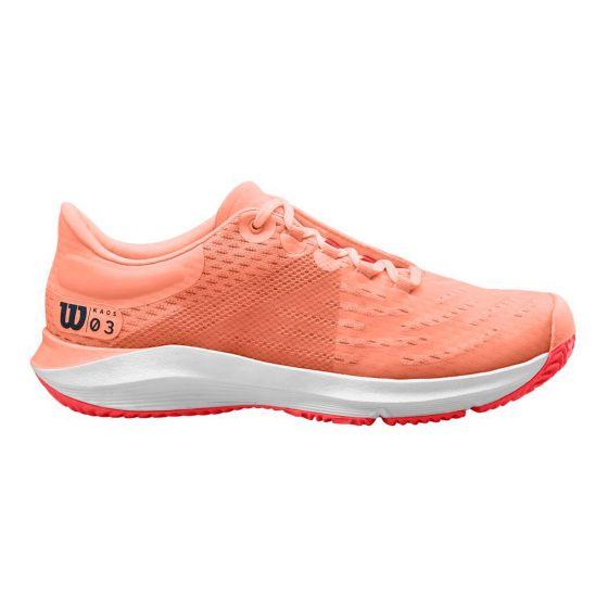 chaussures tennis femme Wilson  Kaos 3.0 Tout Terrain Abricot Blanc wrs326140