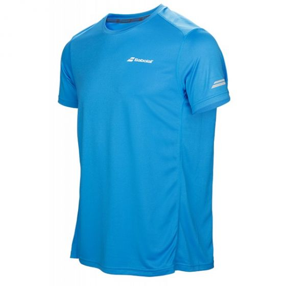 TEE SHIRT BABOLAT JUNIOR CLUB CORE FLAG BOY 3BS17011 132 BLEU
