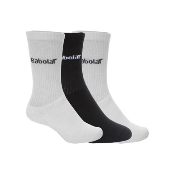 CHAUSSETTES BABOLAT 3 PAIRS PACK BLANCHE 5US16302