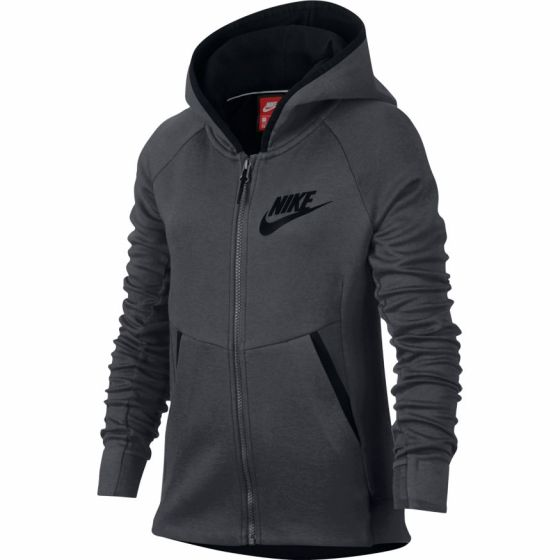 VESTE Girls' Nike Sportswear Tech Fleece Hoodie 859993 091 GRIS