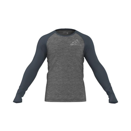 TEE SHIRT MANCHES LONGUES HOMME ADIDAS AUTHENTIC LS AB6896 GRIS/VERT