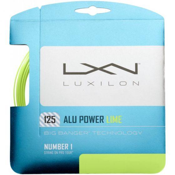 LUXILON BIG BANGER ALU POWER CORDAGE TENNIS GARNITURE 12M -1.25 CITRON