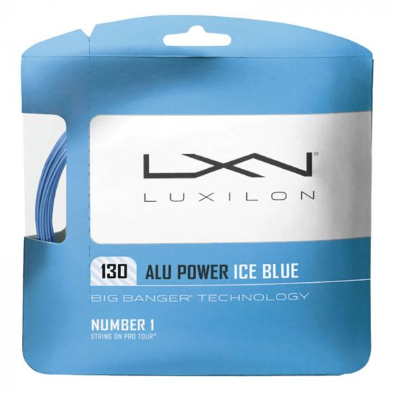 CORDAGE DE TENNIS LUXILON BIG BANGER ALU POWER ICE BLUE GARNITURE 12M