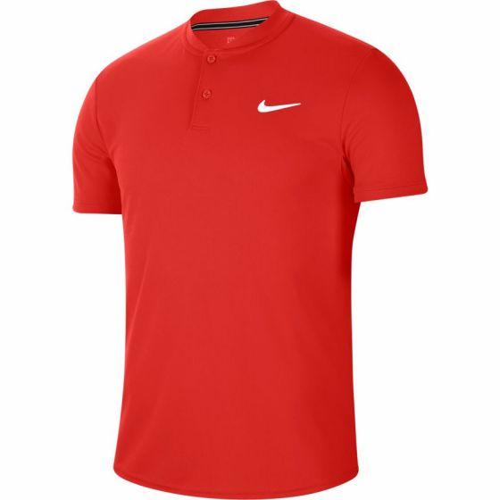 POLO HOMME NIKE COURT DRY AQ7732 636 ROUGE