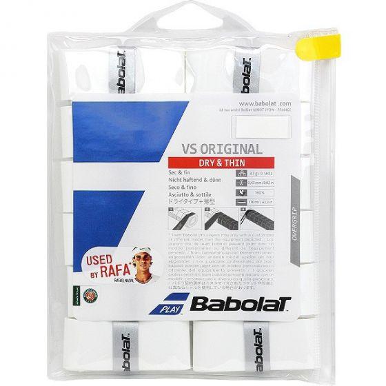 SURGRIP BABOLAT VS ORIGINAL x12 654010 101 BLANC