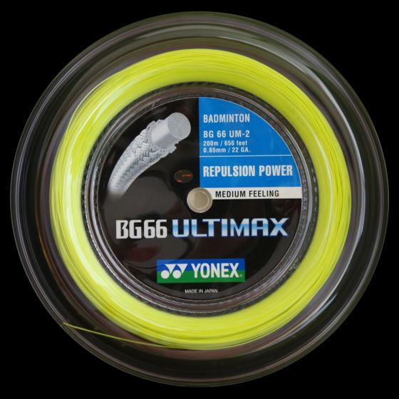 BOBINE YONEX BG 66 ULTIMAX JAUNE (200m)