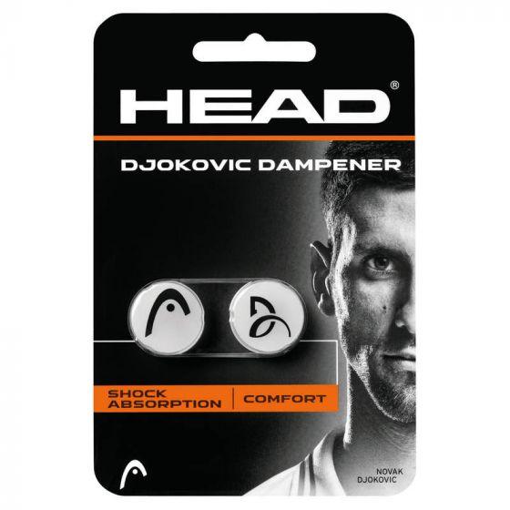 ANTIVIBRATEUR HEAD DJOKOVIC DAMPENER x2 285704 BLANC NOIR