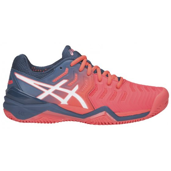 CHAUSSURES FEMME ASICS GEL RESOLUTION 7 CLAY E752Y 701 CORAIL