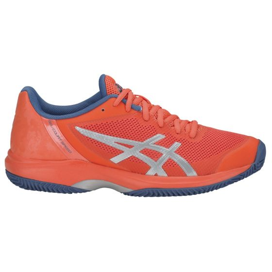 CHAUSSURES FEMME ASICS GEL COURT SPEED CLAY E851N 709 CORAIL