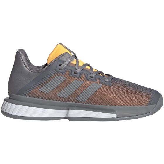 CHAUSSURES HOMME ADIDAS SOLEMATCH BOUNCE EF0572 ORANGE GRIS