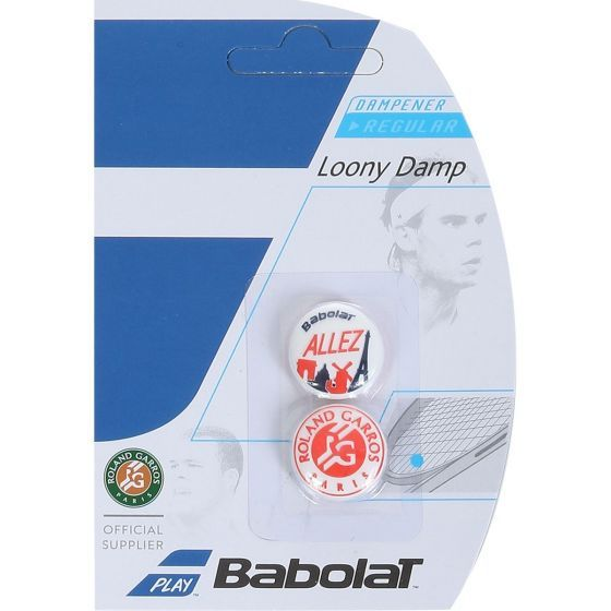 ANTIVIBRATEUR BABOLAT LOONY DAMP RG x2 700043 134 BLANC ROUGE BLEU