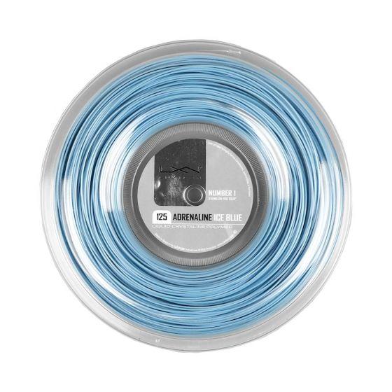CORDAGE DE TENNIS LUXILON ADRENALINE ICE BLUE BOBINE 200M